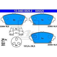 ATE 13.0460-5825.2 (410604U127 / 45022S1AE02 / 41060AV126) колодки тормозные дисковые