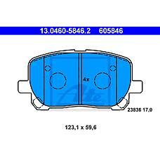 ATE 13.0460-5846.2 (0446544060 / 0446544090 / 0446502080) колодки дисковые п.\ Toyota (Тойота) Avensis (Авенсис) verso 2.0i / d4-d 01>
