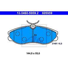 ATE 13.0460-5959.2 (410609C526 / 410609C525 / 410609C125) колодки тормозные дисковые
