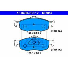 ATE 13.0460-7057.2 (6877836 / 6882584 / 1095201) колодки тормозные дисковые
