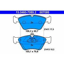 ATE 13-0460-7080-2  Колодки тормозные пер. OPEL Omega (Омега) B vectra A SAAB 900