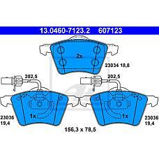 ATE 13-0460-7123-2 (7D0698151A) Колодки тормозные пер. VW T4