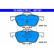 ATE 13.0460-7161.2 (34116763089 / 34111503076 / 34116761287) колодки тормозные дисковые