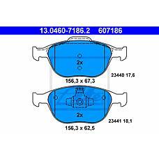 ATE 13.0460-7186.2 (1355950 / 4387361 / 4346371) колодки тормозные дисковые