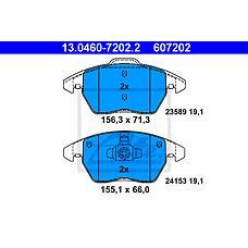 ATE 13.0460-7202.2 (425344 / 425260 / 425323) колодки тормозные дисковые