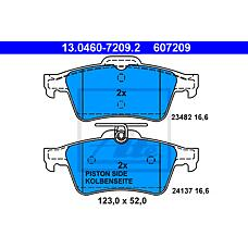 ATE 13.0460-7209.2 (93172190 / 12799240 / BPYK2648ZB) колодки тормозные дисковые