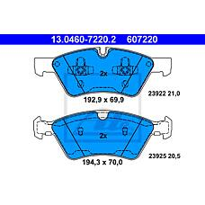 ATE 13.0460-7220.2 (1644200820 / 0044204020 / 1644201820) колодки тормозные дисковые