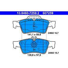 ATE 13.0460-7259.2 (0044204420 / 0034205120 / 0004230230) колодки дисковые задние\ mb w212 / s212 3.5 / 5.0 / 2.0cdi-3.5cdi 09>
