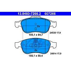 ATE 13.0460-7266.2 (440603905R / 410607115R / 410605961R) колодки дисковые передние\ Renault (Рено) fluence / Megane (Меган) / Scenic (Сценик) 1.2-2.0 / 1.5dci / 1.9dci 05>