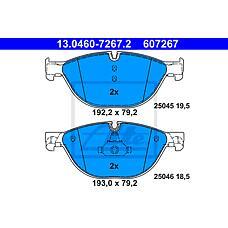 ATE 13.0460-7267.2 (34116775322 / 34116851269 / 34216775342) колодки тормозные дисковые