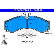 ATE 13-0460-7909-2 (2D0698151A / 0024204120 / 0044202420) Колодки тормозные пер.