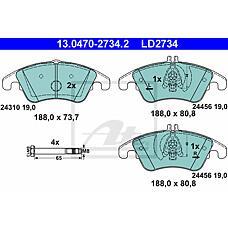 ATE 13.0470-2734.2 (0054201620 / 0054201020 / 0054201320) колодки тормозные дисковые