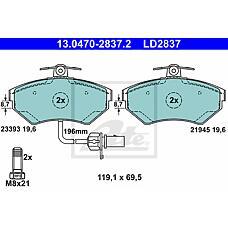 ATE 13-0470-2837-2 (8E0698151B / 8E0698151M / 8E0698151N) Колодки тормозные пер. CERAMIC