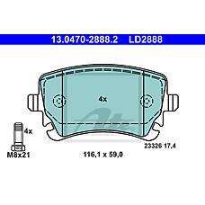 ATE 13.0470-2888.2 (8E0698451C / 4F0698451F / 7H0698451A) колодки тормозные дисковые