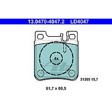 ATE 13-0470-4047-2 (0024201620 / 0024204620 / 0024200520) Колодки тормозные зад. CERAMIC