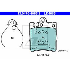 ATE 13.0470-4065.2 (0024205220 / 0034202820 / 0034205220) колодки тормозные ceramic