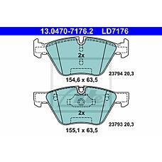 ATE 13.0470-7176.2 (34116763617 / 34116763618 / 34116771868) колодки тормозные ceramic