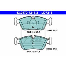 ATE 13.0470-7215.2 (34116769951 / 34116769763 / 34116767147) колодки тормозные ceramic