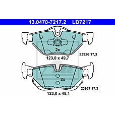 ATE 13.0470-7217.2 (34216774692 / 34216773161 / 34216767150) колодки дисковые задние ceramic\ BMW (БМВ) e87 2.0i / 2.0d 04>