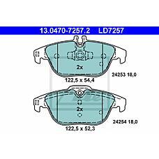 ATE 13.0470-7257.2 (0054200720 / 0054201620 / 0054204320) колодки дисковые задние ceramic\ mb w204 1.8-3.5 07>