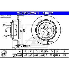 ATE 24.0110-0237.1 (26310AA051 / 26310AA040 / 26310AA050) диск тормозной