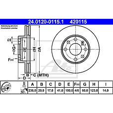 ATE 24.0120-0115.1 (90121445 / 569021 / 90008006) диск тормозной