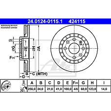 ATE 24.0124-0115.1 (96179110 / 569001 / 569042) диск тормозной