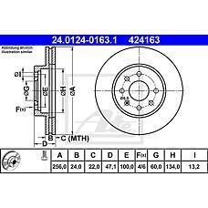 ATE 24-0124-0163-1 (96312559 / 96286933) Диск тормозной пер.