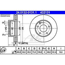 ATE 24.0132-0131.1 (424937 / 51740249 / 51705758) диск тормозной