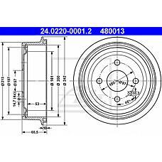 ATE 24.0220-0001.2 (96175281 / 568057 / 90168958) барабан тормозной\ Opel (Опель) Astra (Астра) 1.4-1.6