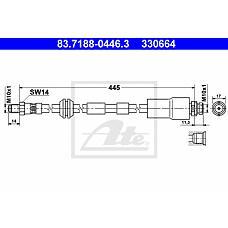 ATE 83-7188-0446-3 (1212748 / 1126960 / 1444730) Шланг топливный пер.