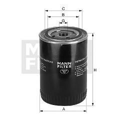 MANN-FILTER W1145/80 (TFY014302 / 130523802 / TFY214302) фильтр масляный