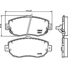PAGID T1323 (0446514081 / 0446530110 / 0446530270) колодки торм. Lexus (Лексус) gs300 / 400 is 200 / 300 передн. к-т