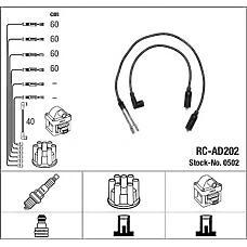 NGK 0502 (N10052505 / RCAD202) комплект в / в проводов rc-ad202