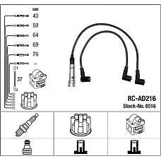 NGK 0516 (437998031B / ZEF561 / RCAD216) комплект проводов зажигания rc-ad216