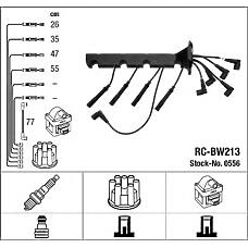 NGK RC-BW213 (12121717646 / 12121727686 / 12121727627) к-кт проводов\ BMW (БМВ) e34 1.8 m40 89-95