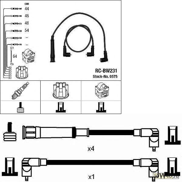 высоковольтные провода bmw 3 (e30) rc-bw231
