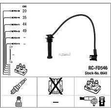 NGK 0641 (1012436 / 1063615 / ZEF719) провода высоковольтные, комплект