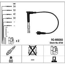 NGK 0738 (ZEF642 / RCMB203) комплект в / в проводов rc-mb203
