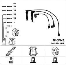 NGK 0812 (1612611 / 90510854 / ZEF997) провода высоковольтные, комплект