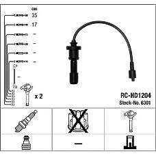 NGK 6301 (2750138B00) комплект в / в проводов rc-hd1204