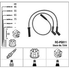 NGK RC-PG611 (95659600 / 96070983 / 5967H1) к-кт проводов\ Citroen (Ситроен) xm 2.0i 89-94 , Peugeot (Пежо) 605 2.0 89-99