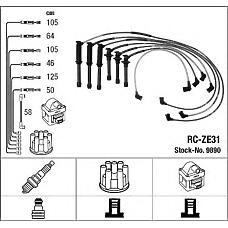 NGK 9890 (ZE3118140 / RCZE31) провода высоковольтные, комплект