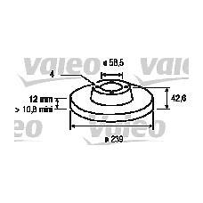 VALEO 186173 (21083501070 / 561388J) Комплект тормозных дисков (2 шт) ВАЗ 2108-2109