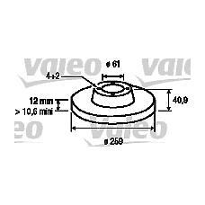 VALEO 186802 (6001547683 / 7701208252) комплект тормозных дисков (2 шт)