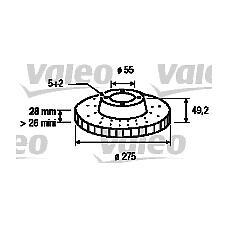 VALEO 186876 (4351220601 / 4351220600 / 4351220590) диски тормозные, комплект