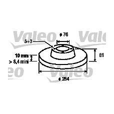 VALEO 197027 (584113A300) Комплект тормозных дисков (2 шт)