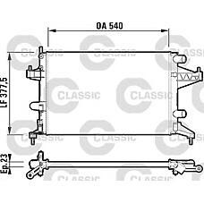 VALEO 232825 (93173379 / 1300236 / 9201955) радиатор охлаждения двигателя