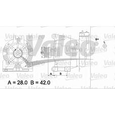 VALEO 436732 (0111545602 / 0101543802 / 0111543502) генератор