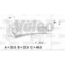 VALEO 437139 (57052C / 57052B / 57054U) генератор 14v / 90a\ Citroen (Ситроен) Berlingo (Берлинго) / c5 / xsara, pegeout 206 / 306 / 406 / Boxer (Боксер) 1.4-2.0 96>